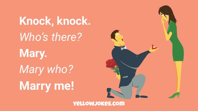 Jokes knock romantic knock Funny Cheesy